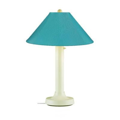 Catalina 34 in. Outdoor Bisque Table Lamp with Aruba Shade