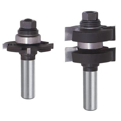 3/8 in. Carbide Adjustable Tongue and Groove Router Bit Set