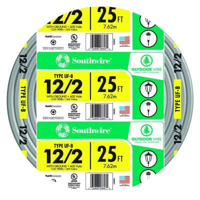 25 ft. 12-2 UF-B W/G Cable - Yellow