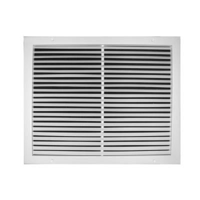 18 in. x 8 in. Fixed Bar Return Air Grille, White
