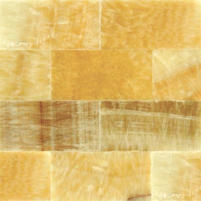 Giallo Crystal 3 in. x 6 in. Polished Onyx Floor and Wall Tile (1 sq. ft. / case)