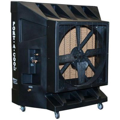 9600 CFM 1-Speed Portable Evaporative Cooler for 2500 sq. ft.