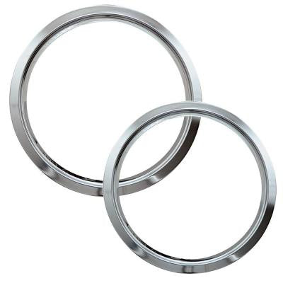 6 in. Small and 8 in. Large Trim Ring in Chrome (2-Pack)