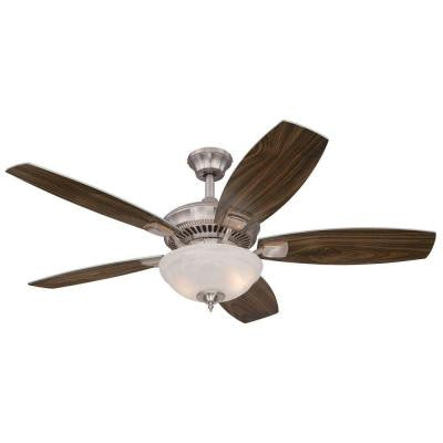 Tulsa 52 in. Brushed Nickel Indoor Ceiling Fan