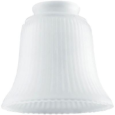 4-1/2 in. Frosted Ribbed Bell with 2-1/4 in. Fitter and 4-3/4 in. Width