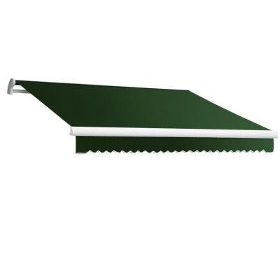 18 ft. MAUI EX Model Left Motor Retractable Awning (120 in. Projection) in Forest Green