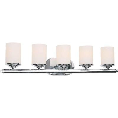 Oralee 5-Light Chrome Bath Vanity Light