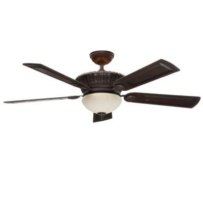 Alessandria 54 in. Brushed Cocoa Ceiling Fan