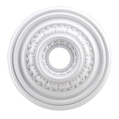 English Study 18 in. White Ceiling Medallion