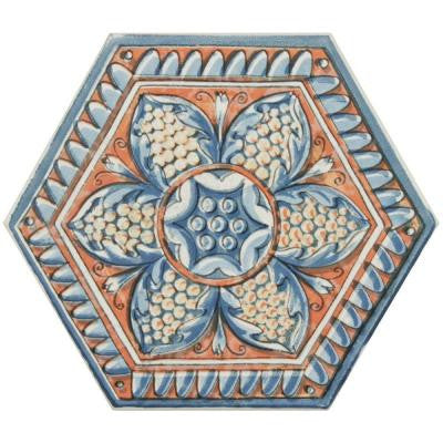 Hexatile Basilica Sere 7 in. x 8 in. Porcelain Floor and Wall Decor Tile