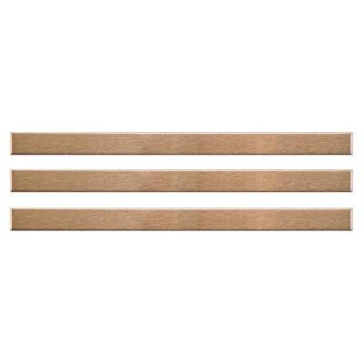 Alloy Stick Copper 3/8 in. x 5-3/4 in. x 8 mm Stainless Steel Over Porcelain Wall Trim Tile (3-Pack)