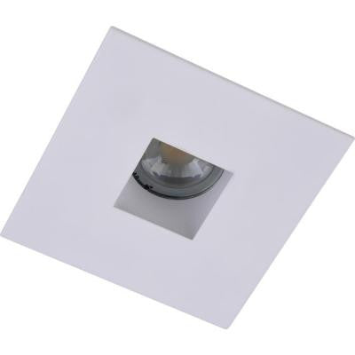 4 in. Matte White Recessed Square Aperture with Matte White Square Trim Ring