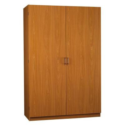 SystemBuild Jennings 48 in. Wardrobe Storage Closet, City Oak