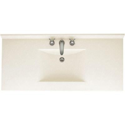 Contour 43 in. W x 22 in. D x 10-1/4 in. H Solid-Surface Vanity Top in Tahiti Ivory with Tahiti Ivory Basin