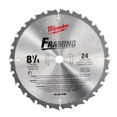 8-1/4 in. x 24 Carbide Tooth Circular Saw Blade