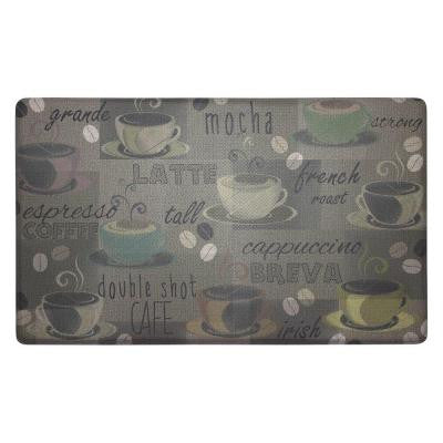 Roasted Coffee 18 in. x 30 in. Foam Comfort Kitchen Mat