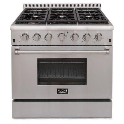 Pro-Style 36 in. 5.2 cu. ft. Propane Gas Range in Stainless Steel