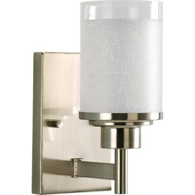 Alexa Collection 1-Light Brushed Nickel Vanity Fixture