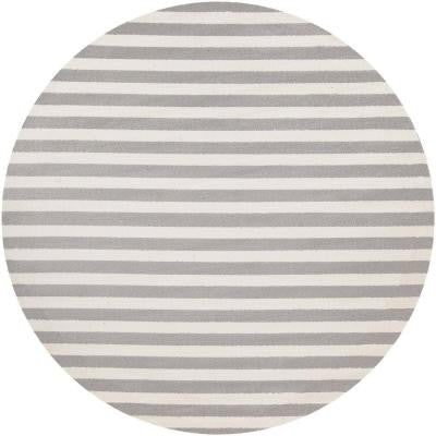 Rosemount Ivory 7 ft. 10 in. x 7 ft. 10 in. Round Indoor Area Rug