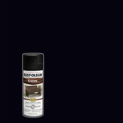 12 oz. Protective Enamel Satin Black Spray Paint
