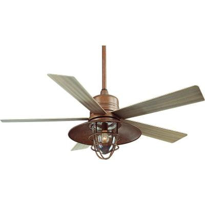 Metro 54 in. Rustic Copper Indoor/Outdoor Ceiling Fan