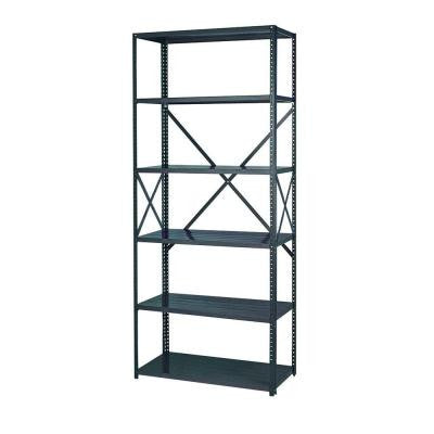 48 in. W x 85 in. H x 24 in. D Steel Commercial Shelving Unit