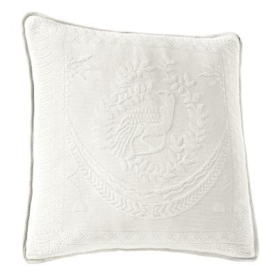 King Charles 20 in. White Square Decorative Pillow