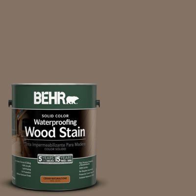 1-gal. #SC-159 Boot Hill Grey Solid Color Waterproofing Wood Stain