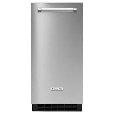 15 in. 51 lbs. Built-In or Freestanding Ice Maker in Stainless Steel