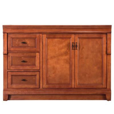 Naples 48 in. W x 21-5/8 in. D x 34 in. H Vanity Cabinet Only in Warm Cinnamon