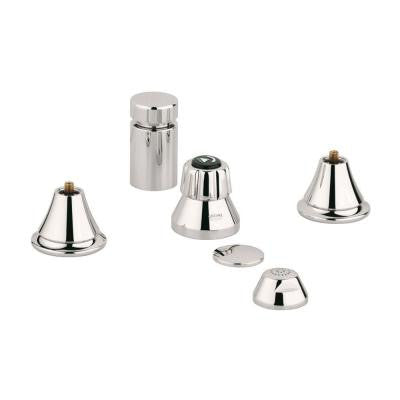 Seabury 2-Handle Wideset Bidet Faucet in Polished Nickel InfinityFinish