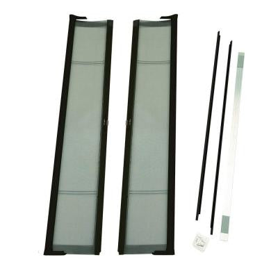 72 in. x 79 in. Brisa Bronze Short Height Double Door Kit Retractable Screen Door