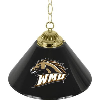 Western Michigan University 14 in. Single Shade Brass Hanging Lamp