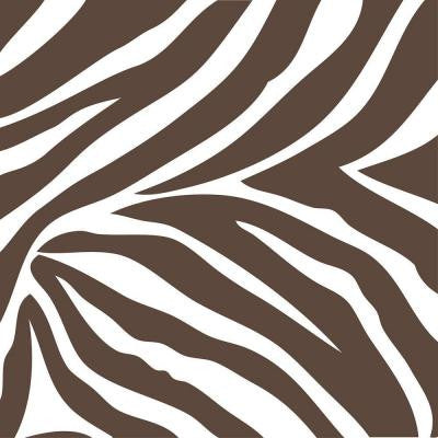 13 in. x 13 in. Brown And White Animal Instinct Blocks 8-Piece Wall Decal