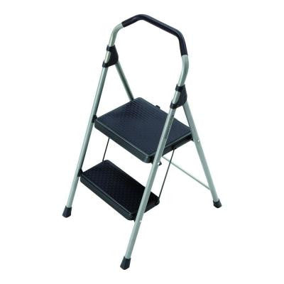 2-Step Lightweight Steel Step Stool with 225 lb. Load Capacity Type II Duty Rating