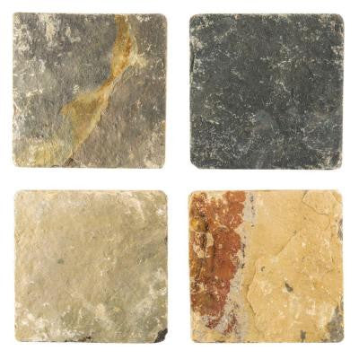 Sequoia Slate 6 in. x 6 in. x 8 mm Floor and Wall Tile (4 pieces / pack)