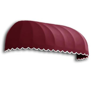 4 ft. Chicago Window Awning (31 in. H x 24 in. D in Burgundy