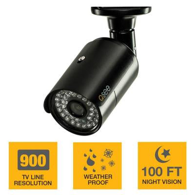 Wired 900TVL Indoor/Outdoor Bullet Analog Camera, 100 ft. Night Vision