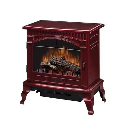 Traditional 400 sq. ft. Electric Stove in Red