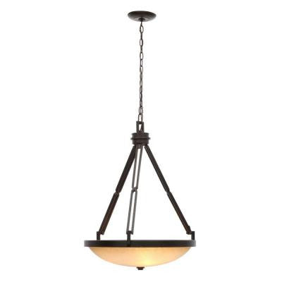 Alta Loma 3-Light Dark Ridge Bronze Bowl Pendant