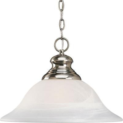Bedford Collection 1-Light Brushed Nickel Pendant