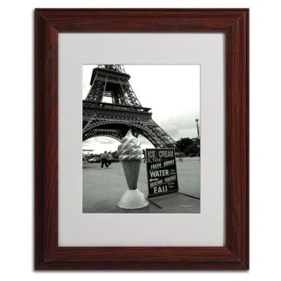 11 in. x 14 in. Eiffel Tower Ice Cream Cone Matted Framed Art