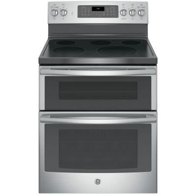 6.6 cu. ft. Double Oven Electric Range with Self-Cleaning Convection Oven (Lower Oven Only) in Stainless Steel