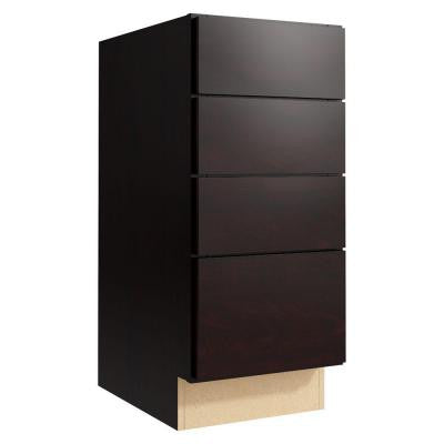 Fiske 15 in. W x 34 in. H Vanity Cabinet Only in Coffee