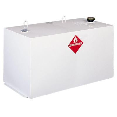 Delta Rectangular Steel Liquid Transfer Tank in White