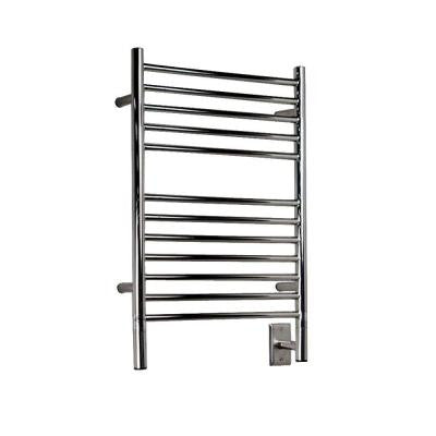 Jeeves E-Straight 20.5 in. W x 31 in. H 12-Bar Electric Towel Warmer in Polished Stainless Steel
