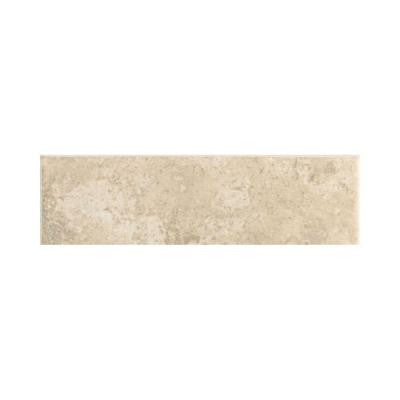 Stratford Place Alabaster Sands 3 in. x 10 in. Ceramic Bullnose Wall Tile