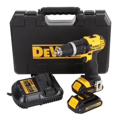 20-Volt Max Lithium-Ion Compact Hammer Drill/Driver Kit