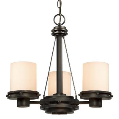 Negron 3-Light Charcoal Black Incandescent Chandelier