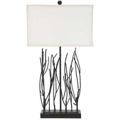 Grayson 30.5 in. Cream Faille Twig Lamp